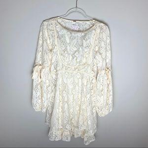 Free People   Ruby Lace Ivory Dress Size Small